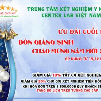 Ưu đãi chào mừng giáng sinh và năm mới 2021 - Center Lab Việt Nam
